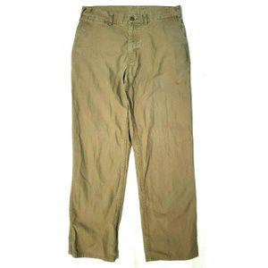 Patagonia Mens Regular Fit Duck Khaki Pants 33